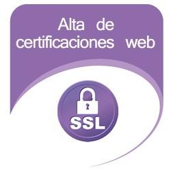 Alta de Certificaciones web